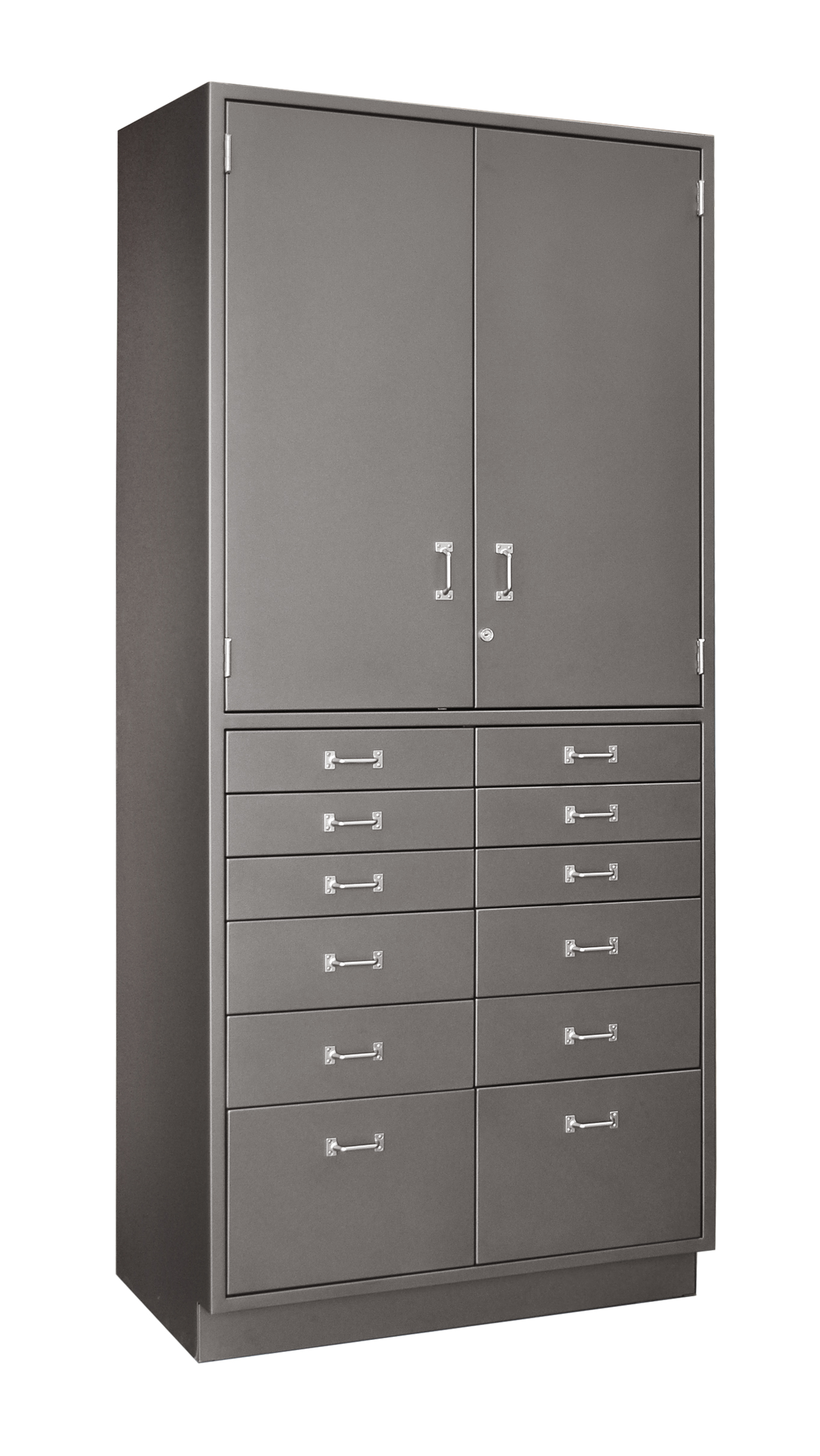 Hybrid 12drw-2dr cabinet- warm gray